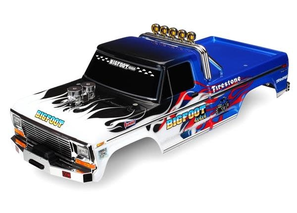 Body, Bigfoot® Flame, Officially Licensereplica (painted, decals applied), TRX3653-1