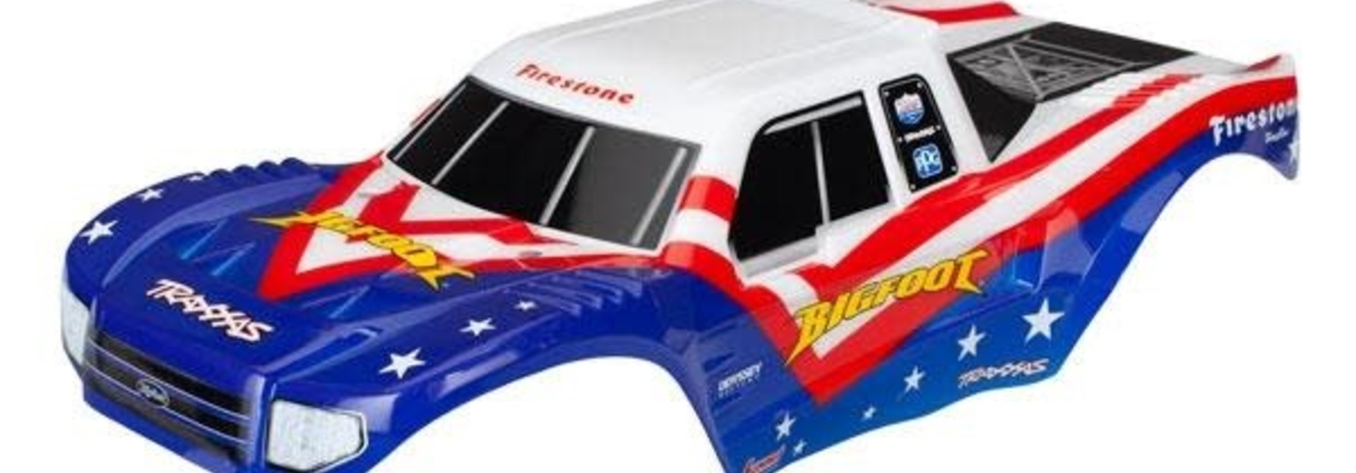 Body, Bigfoot Red, White, & Blue, Officially Licensed replica (painted, decals a