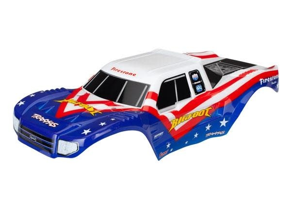 Body, Bigfoot Red, White, & Blue, Officially Licensed replica (painted, decals a-1
