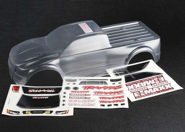 Body, E-Maxx Brushless (clear, requires painting)/ decal she, TRX3915-2