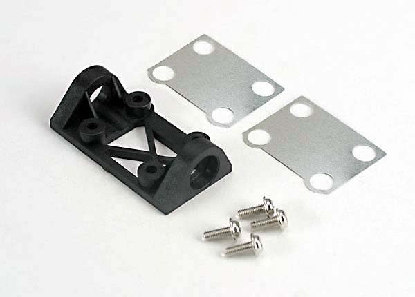 Bearing block, front (supports front shaft)/belt tension adj, TRX4827-2