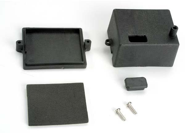 Box, receiver/ x-tal access rubber plug/ adhesive foam chass, TRX4924-2
