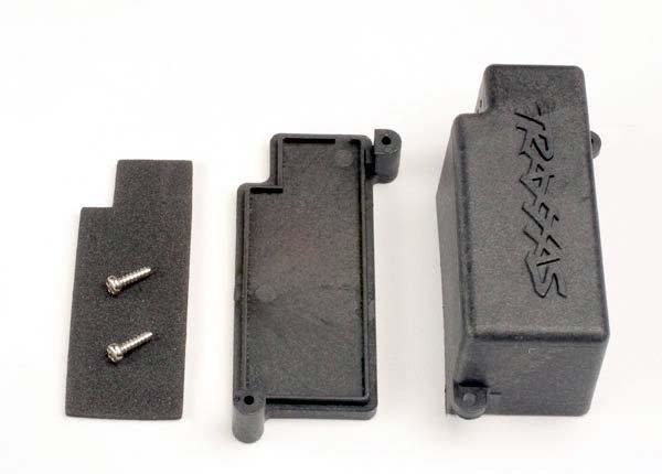 Box, battery/ adhesive foam chassis pad, TRX4925-2