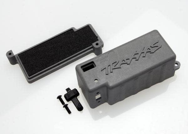 Box, battery (grey)/ adhesive foam chassis pad/charge jack p, TRX4925X-2