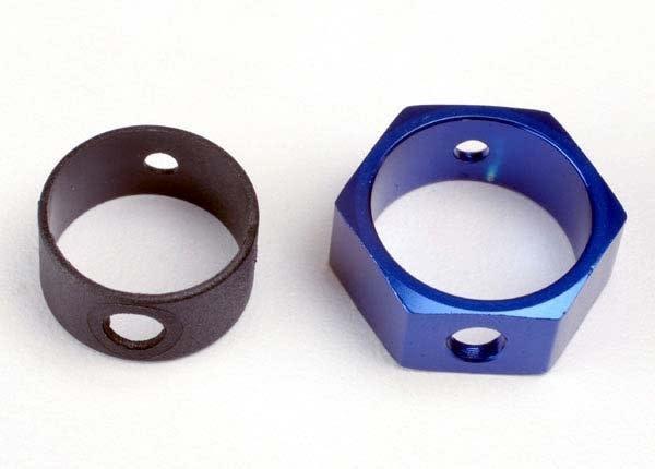 Brake adapter, hex aluminum (blue), TRX4966-2