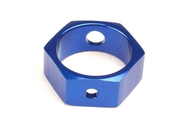 Brake adapter, hex aluminum (blue) (use with HD shafts), TRX4966X-2