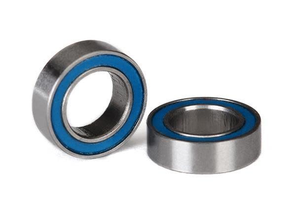 Ball bearings, blue rubber sealed (6x10x3mm) (2), TRX5105-2