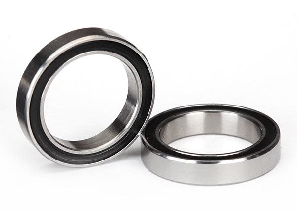 Ball bearings, black rubber sealed (15x21x4mm) (2), TRX5102A-2
