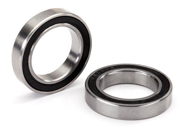 Ball bearing, black rubber sealed, stainless (17x26x5) (2)-1