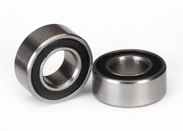 Ball bearings, black rubber sealed (5x10x4mm) (2), TRX5115A-2