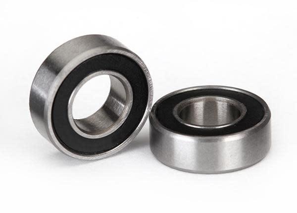 Ball bearings, black rubber sealed (6x12x4mm) (2), TRX5117A-2