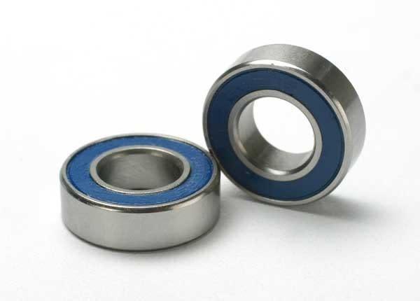 Ball bearings, blue rubber sealed (8x16x5mm) (2), TRX5118-2