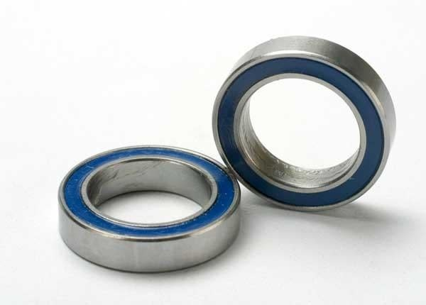 Ball bearings, blue rubber sealed (12x18x4mm) (2), TRX5120-2