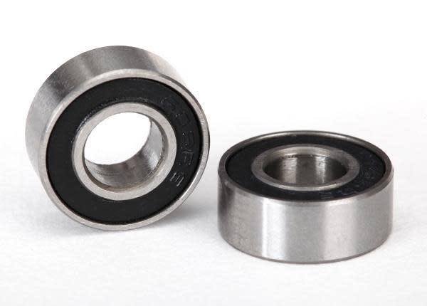 Ball bearings, black rubber sealed (6x13x5mm) (2), TRX5180A-2