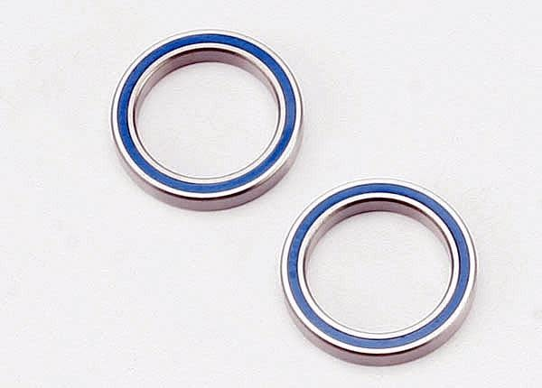 Ball bearings, blue rubber sealed (20x27x4mm) (2), TRX5182-2