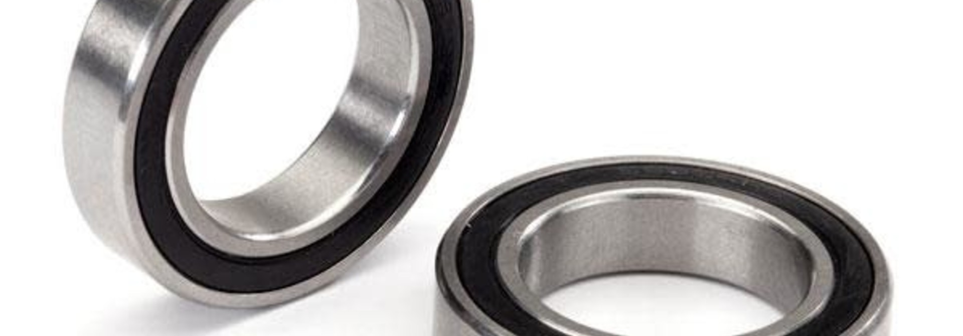 Ball bearing, black rubber sealed, stainless (20x32x7mm) (2)