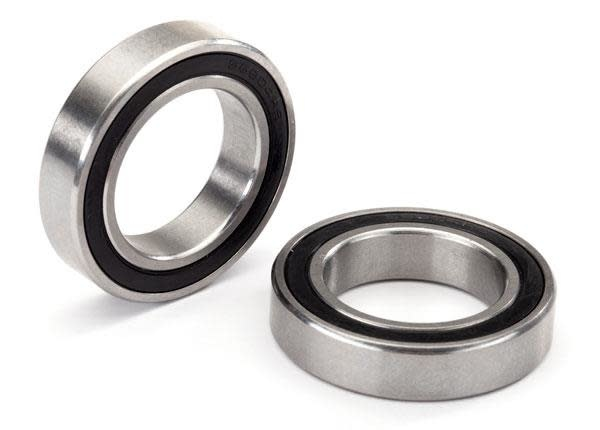 Ball bearing, black rubber sealed, stainless (20x32x7mm) (2)-1