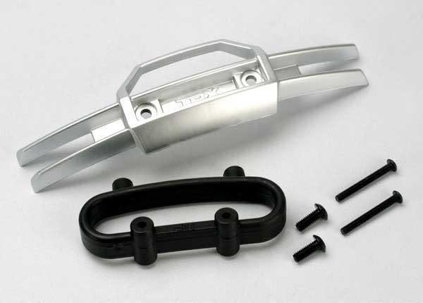 Bumper, front/ bumper mount, front/ 4x10mm BCS (2)/ 3x25mm B, TRX5335-2