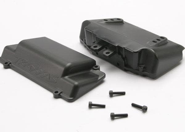 Battery Box, bumper (rear) (includes battery case with bosse, TRX5515X-2
