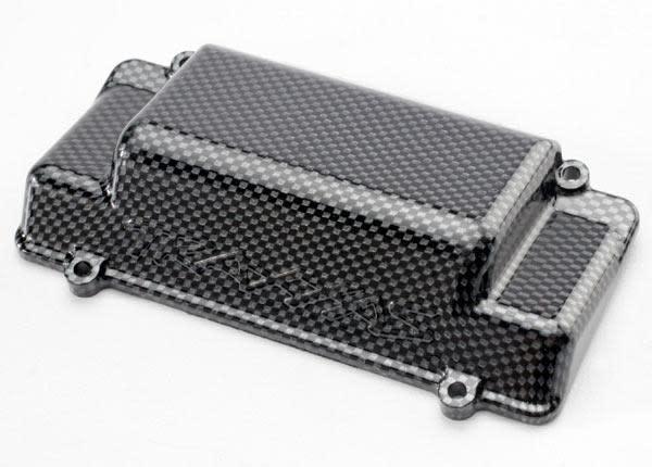 Battery Box Cover, bumper (rear), Exo-Carbon finish (Jato), TRX5515G-2