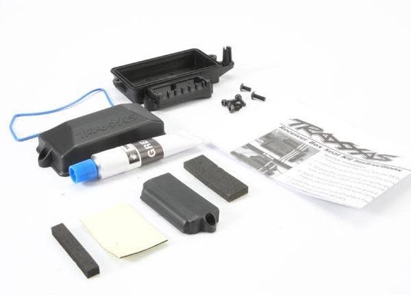 Box, receiver (sealed)/ foam pad/ silicone grease/ 3x8mm BCS, TRX5624-2