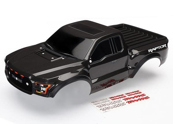 Body, Ford Raptor, black (painted, decals applied) 2017, TRX5826A-2
