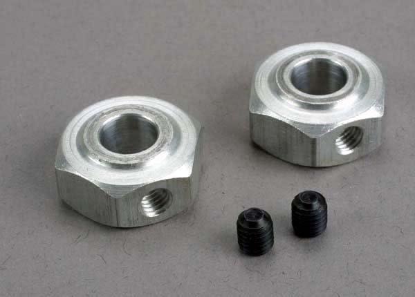 Aluminum hex wheel hubs (2)/ 5x6 GS (2), TRX6046-2