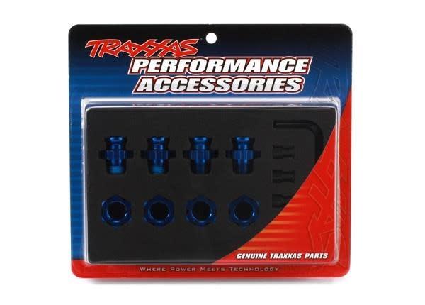 Anodised alu 17mm hex adaptors, TRX6856X-2
