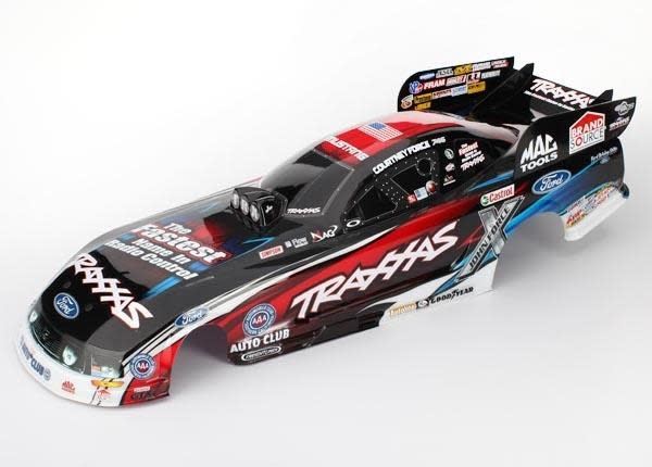 Body, Ford Mustang, Courtney Force (painted, decals applied), TRX6911X-2