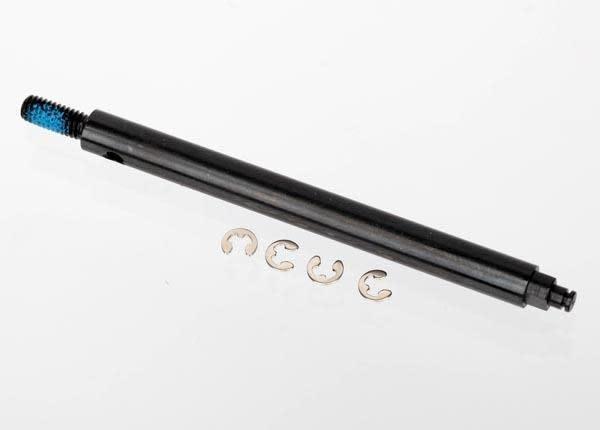 Axle shaft, rear, steel/ e-clips (4), TRX6945-2