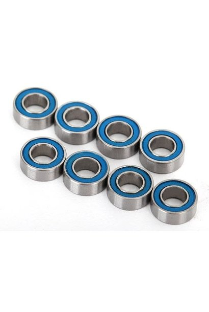 Ball bearings, blue rubber sealed (4x8x3mm) (8)