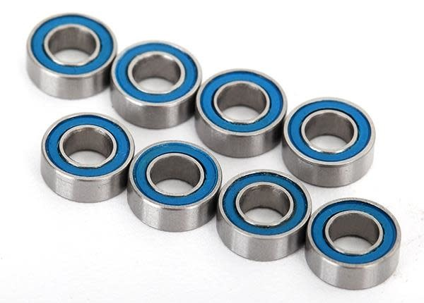 Ball bearings, blue rubber sealed (4x8x3mm) (8)-1