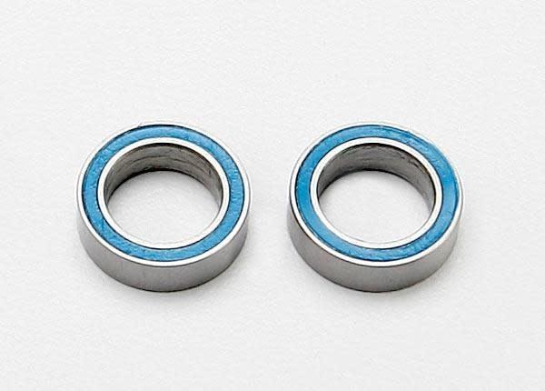 Ball bearings, blue rubber sealed (8x12x3.5mm) (2), TRX7020-2