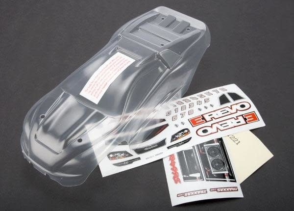 Body, 1/16 E-Revo (clear, requires painting)/ grill and ligh, TRX7111-2