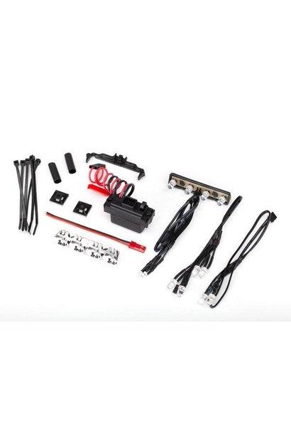 LED light kit, 1/16th Summit (power supply, chrome light bar, roof light harness