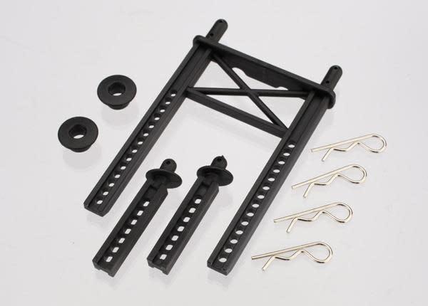 Body mount, rear/ body mount posts, front (2)/body washer, r, TRX7315-2