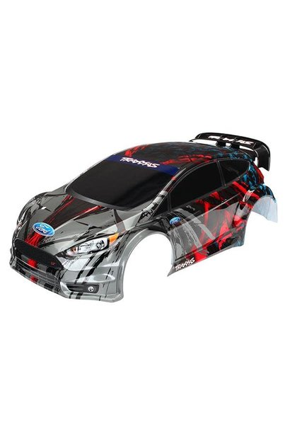 Body, Ford Fiesta ST Rally (painted, decals applied), #TRX7416
