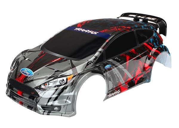 Body, Ford Fiesta ST Rally (painted, decals applied), #TRX7416-1