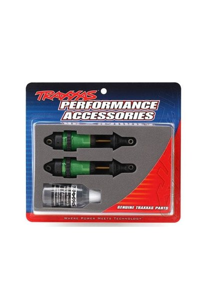 Shocks, GTR long green-anodized,PTFE-coated bodies with TiN shafts (fully assemb