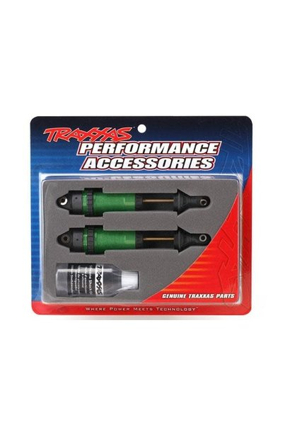 Shocks, GTR xx-long green-anodized, PTFEcoated bodies with TiN shafts (fully ass