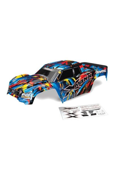 Body, X-Maxx®, Rock n' Roll (painted, decals applied) (assembled with tailgate protector)