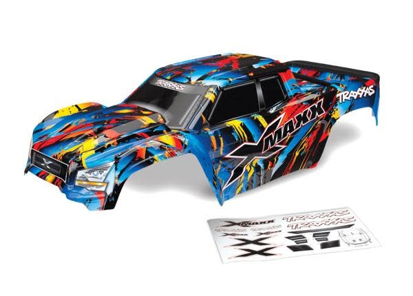 Body, X-Maxx®, Rock n' Roll (painted, decals applied) (assembled with tailgate protector)-1