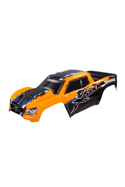 BODY, X-MAXX®, ORANGE (PAINTED, DECALS APPLIED) (A