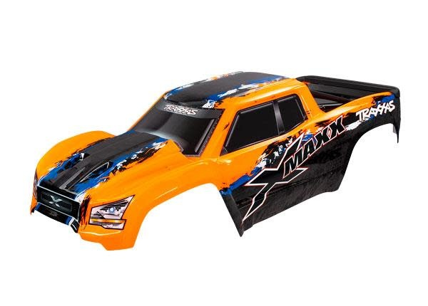 BODY, X-MAXX®, ORANGE (PAINTED, DECALS APPLIED) (A-1