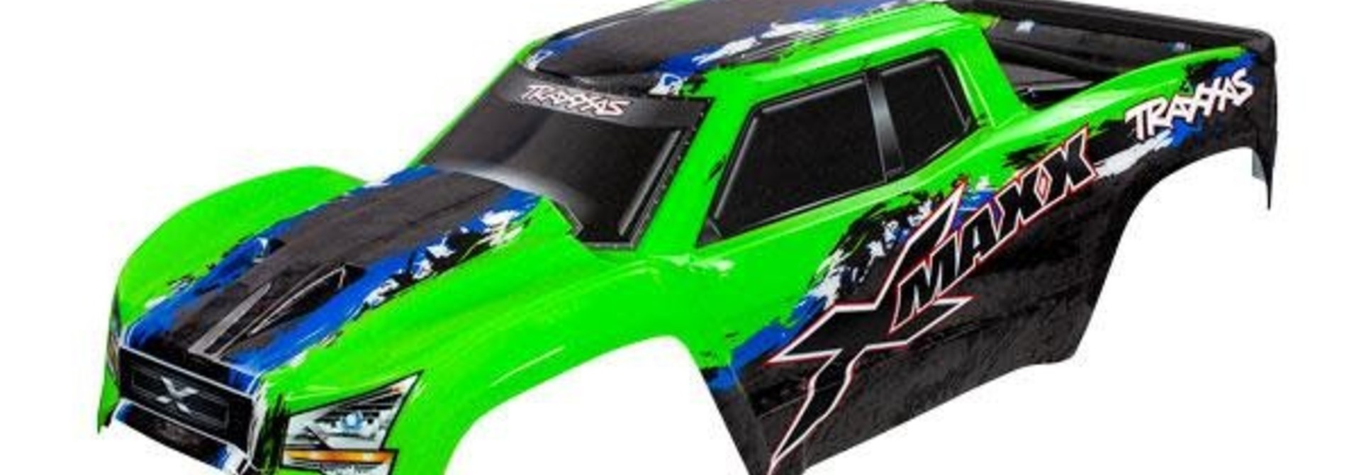 BODY, X-MAXX®, GREEN (PAINTED, DECALS APPLIED) (AS