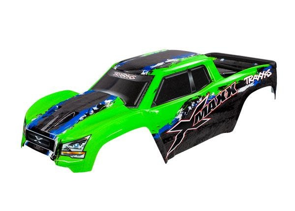 BODY, X-MAXX®, GREEN (PAINTED, DECALS APPLIED) (AS-1