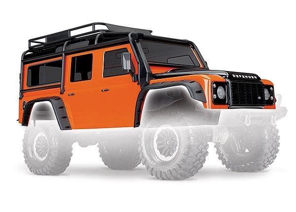 Body, Land Rover Defender, adventure orange (complete with ExoCage, inner fende-1
