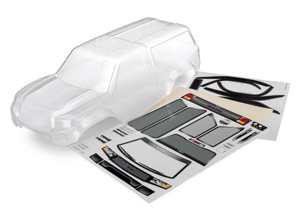 Body with camper, TRX-4 Sport (clear, trimmed, requires painting)/ window masks/-1