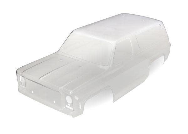 Body, Chevrolet Blazer (1979) (clear, requires painting)/ decals/ window masks, TRX8130-1