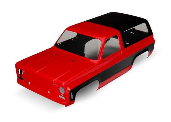 Body, Chevrolet Blazer (1979) (red) (requires grille, side mirrors, door handles, TRX8130A-1